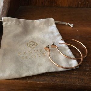 Rose Gold Kendra Scott Pepper Hoop Earrings